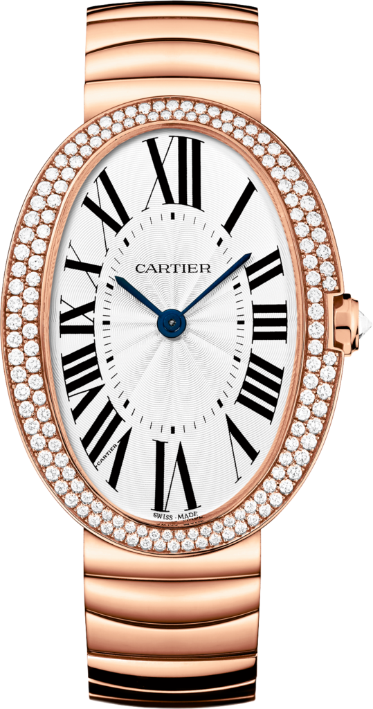 Baignoire watch, large modelLarge model, 18K pink gold, diamonds