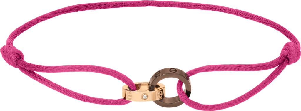 Love braceletPink gold, ceramic, diamonds