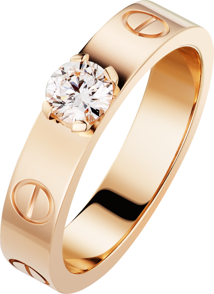LOVE SolitairePink gold, diamond