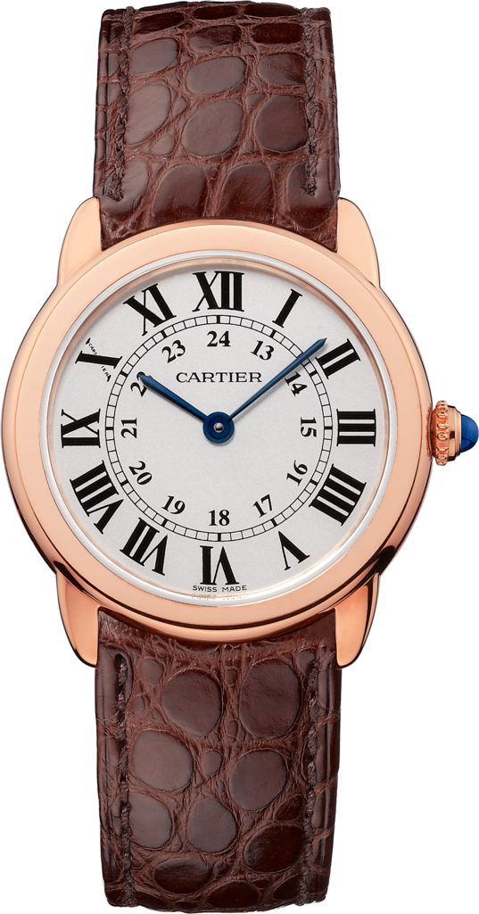 Ronde Solo de Cartier watch29 mm, rose gold, steel, leather