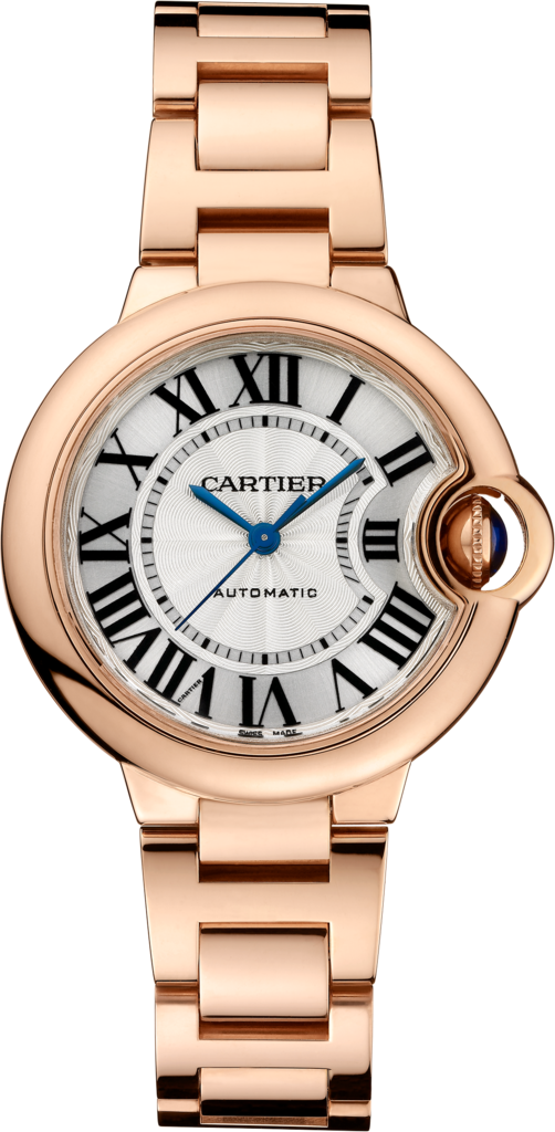 Ballon Bleu de Cartier watch33mm, automatic movement, pink gold