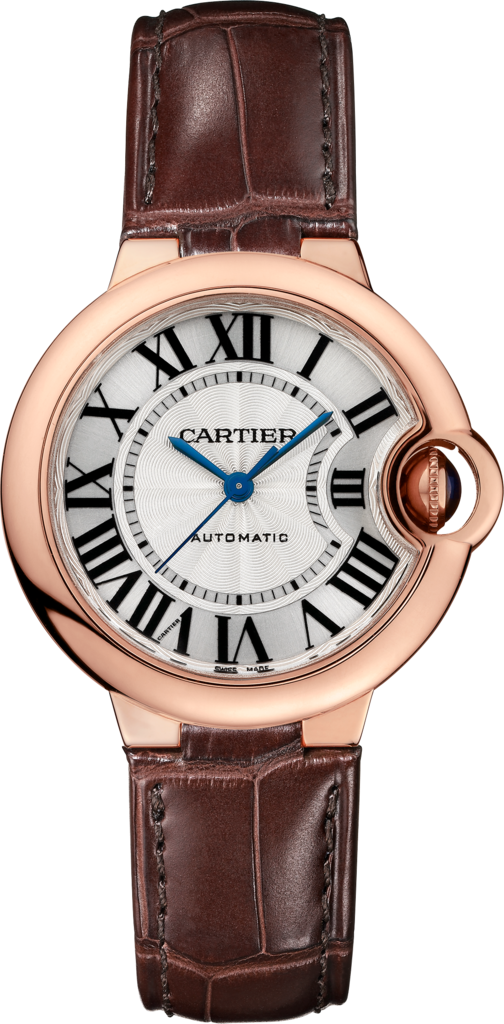 Ballon Bleu de Cartier watch33 mm, 18K pink gold, leather