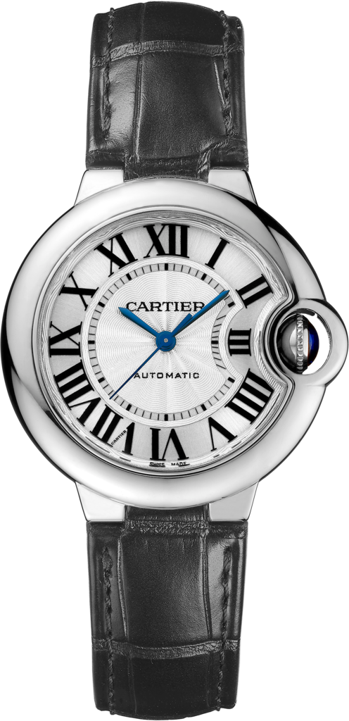 Ballon Bleu de Cartier watch33 mm, steel, leather