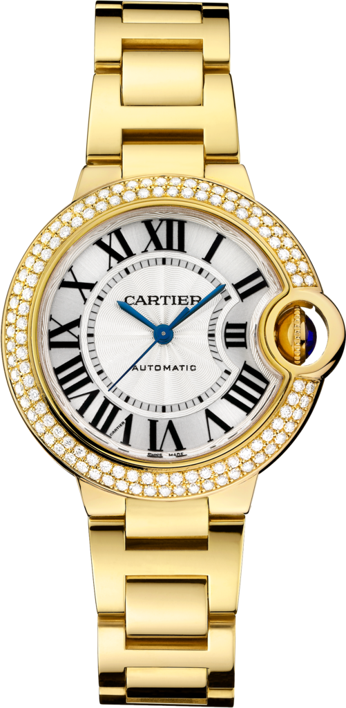 Ballon Bleu de Cartier watch33 mm, 18K yellow gold, diamonds
