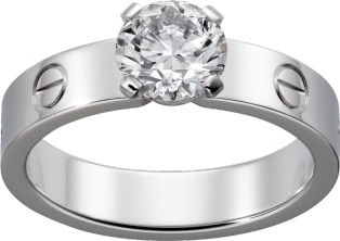 cartier love solitaire ring price
