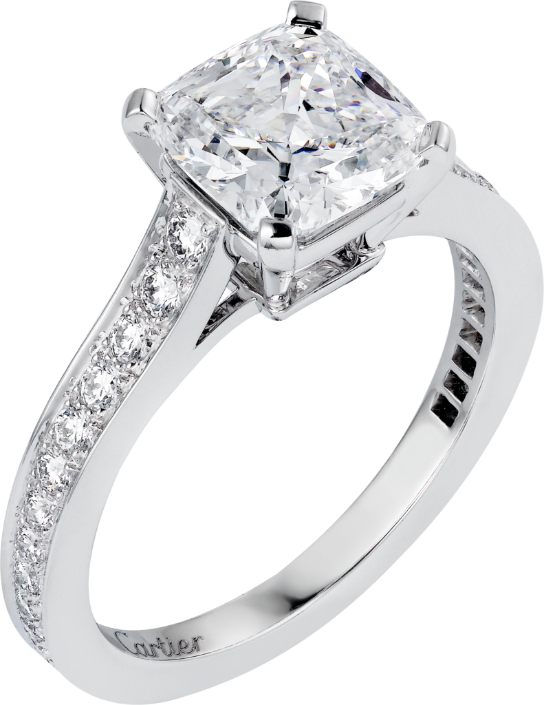 1895 solitaire ringPlatinum, diamonds