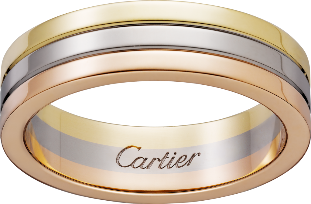 Trinity wedding bandWhite gold, yellow gold, pink gold
