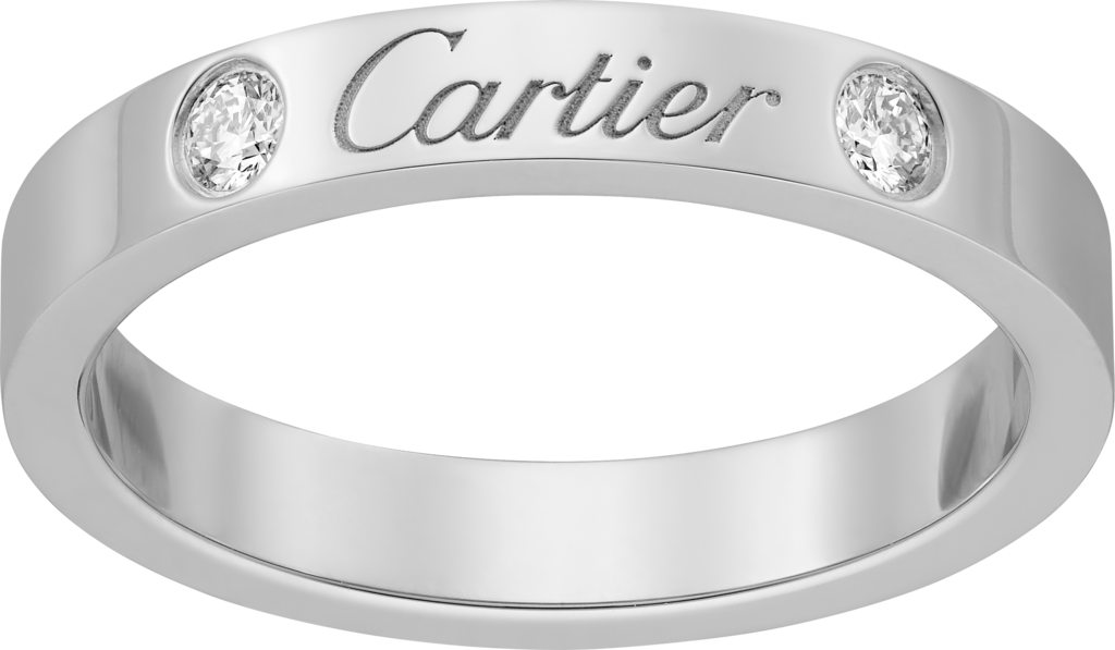C de Cartier wedding bandPlatinum, diamonds