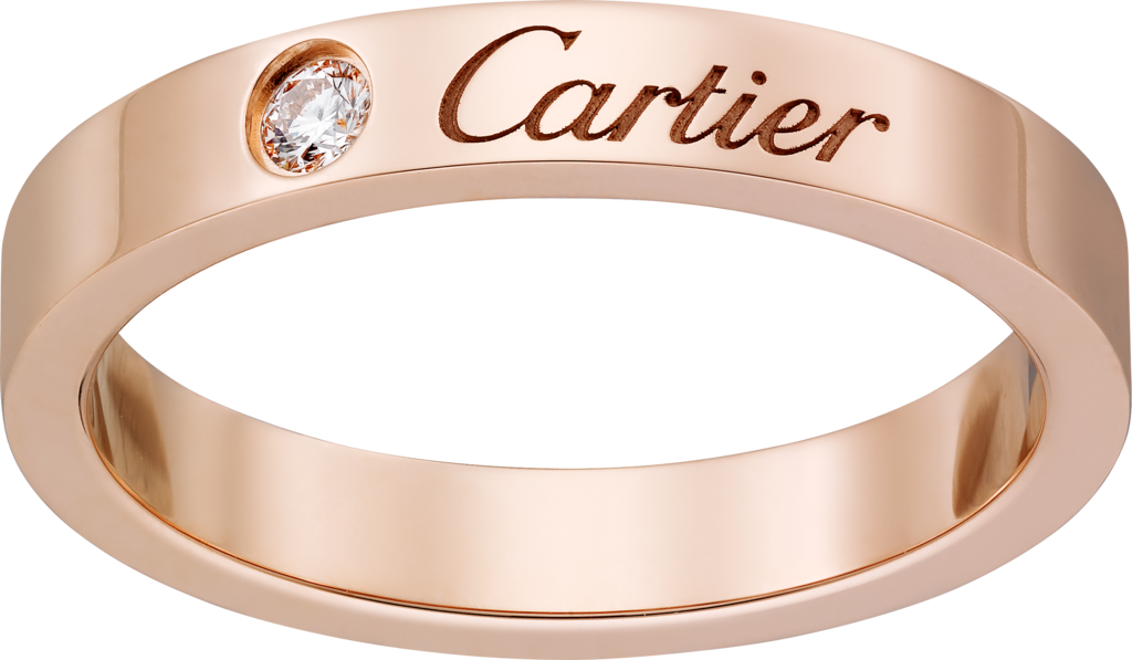 C de Cartier wedding ringRose gold, diamond