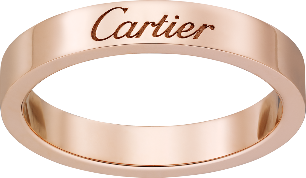 C de Cartier wedding bandPink gold