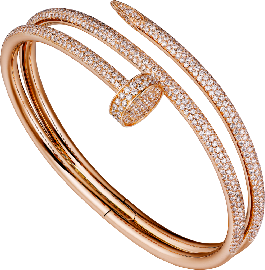Juste un Clou braceletRose gold, diamonds