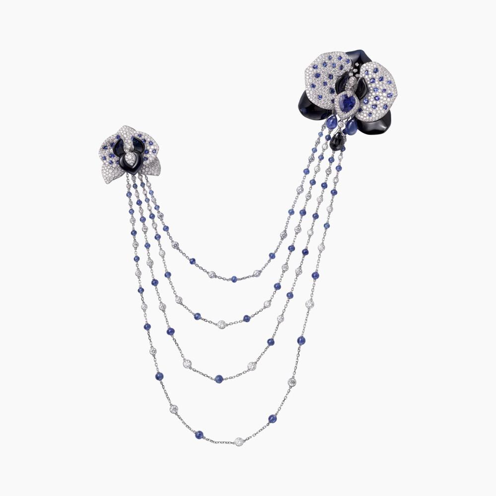 Брошь Caresse d'Orchidées par Cartier