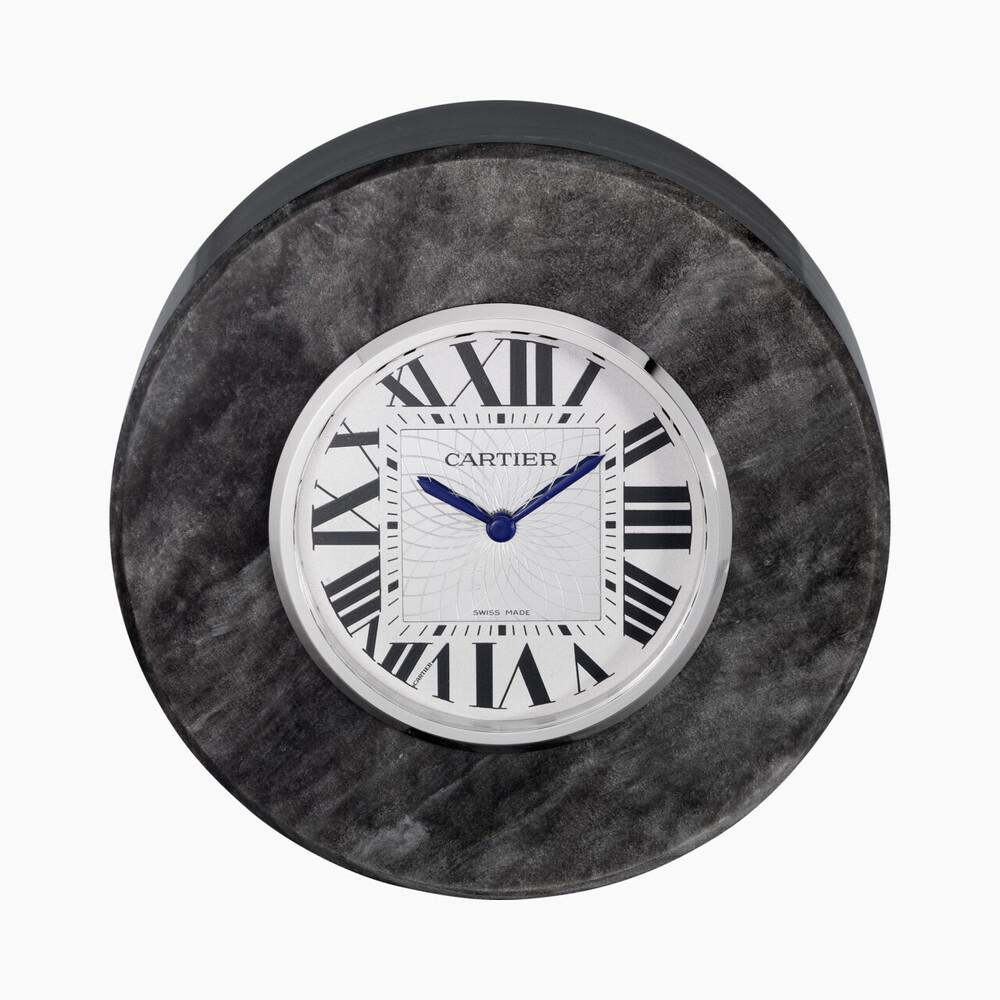 Настольные часы категории Exceptional, серебристый обсидиан