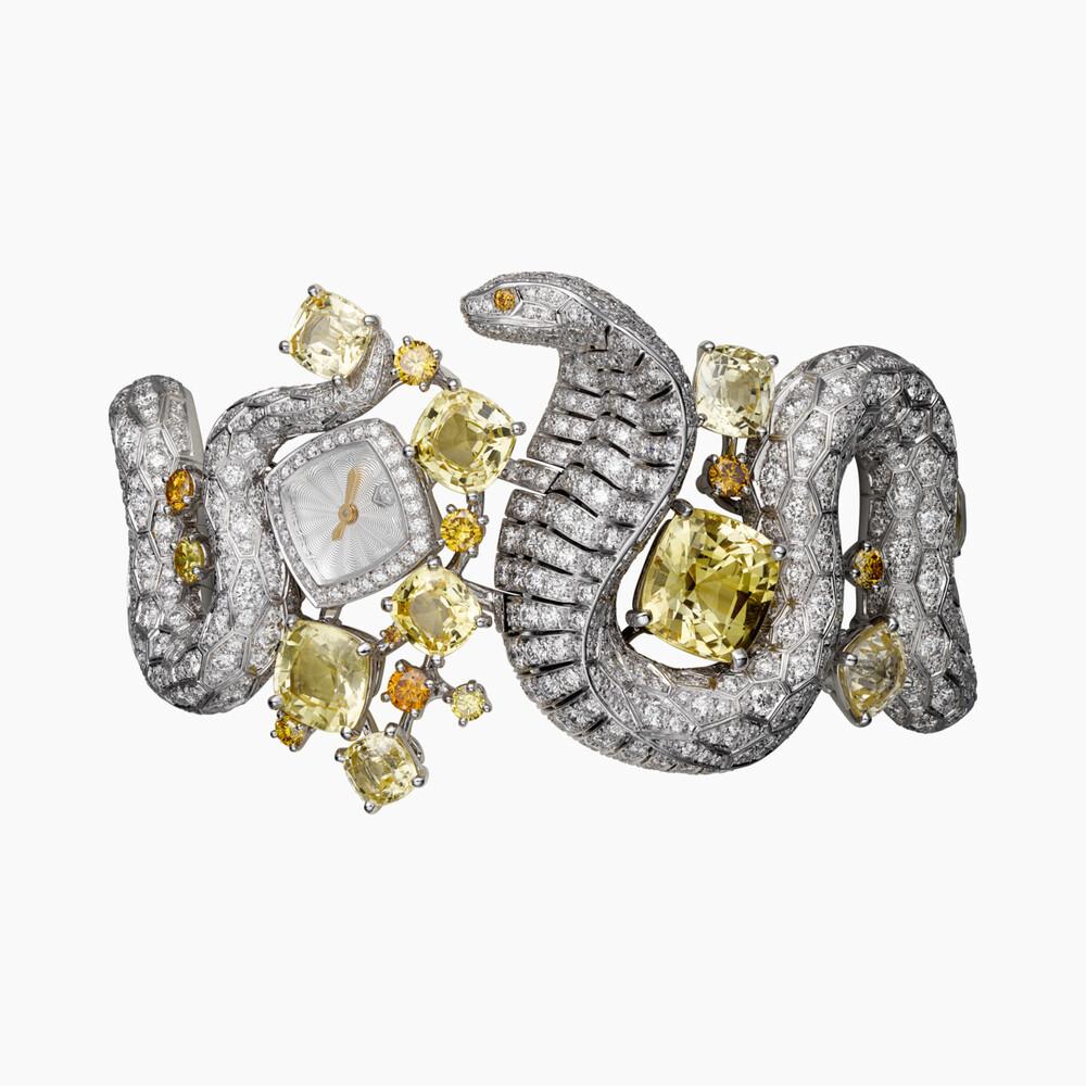 Часы категории Высокое ювелирное искусство, мотив «кобра»