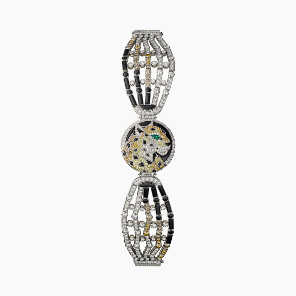 Часы со скрытым циферблатом категории Высокое ювелирное искусство, мотив «пантера»