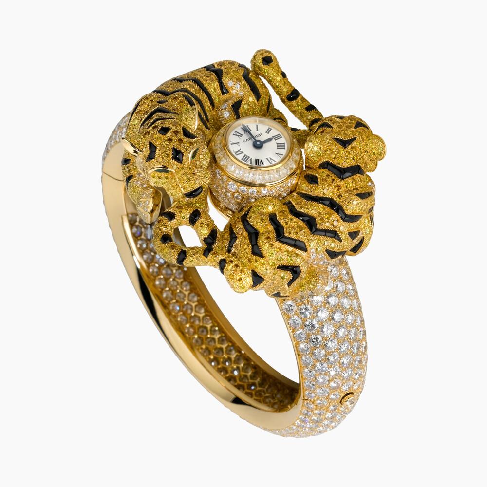 Часы категории Высокое ювелирное искусство, мотив «тигрята»