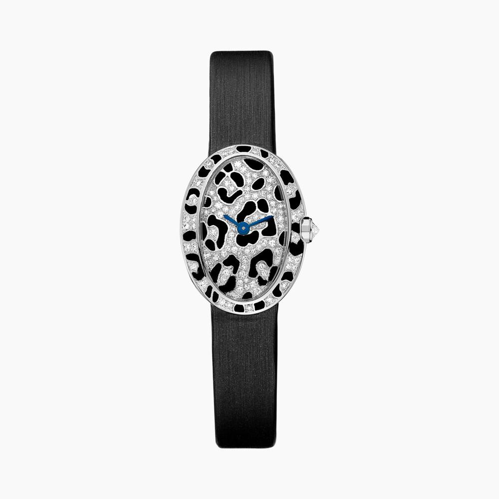 Часы Baignoire, модель «мини», мотив «пятна пантеры»