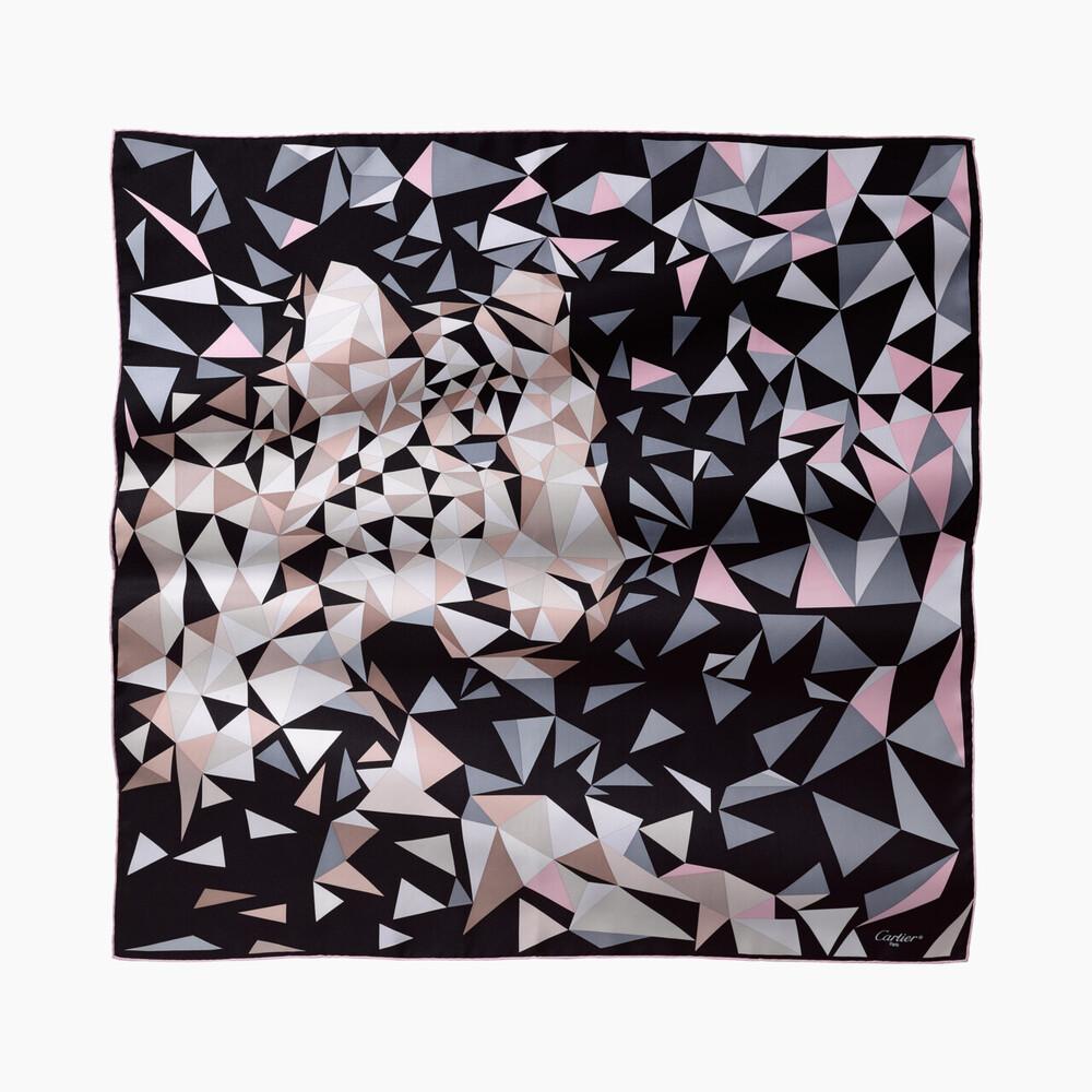 Платок, мотив «пантера», узор «пиксель»
