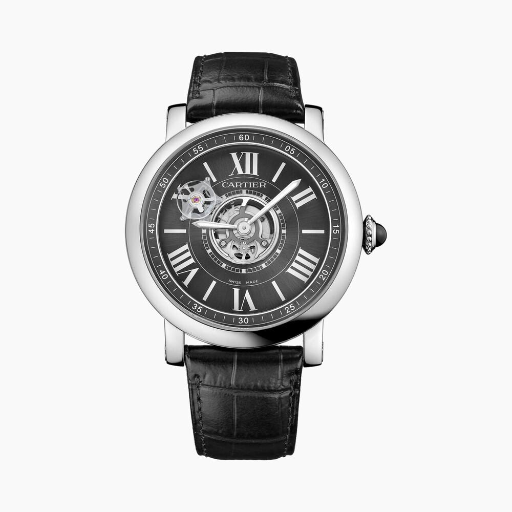 Часы Rotonde de Cartier Astrotourbillon Carbon Crystal