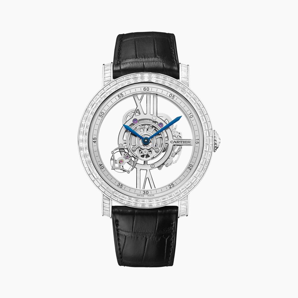 Часы Rotonde de Cartier Astrotourbillon, скелетон