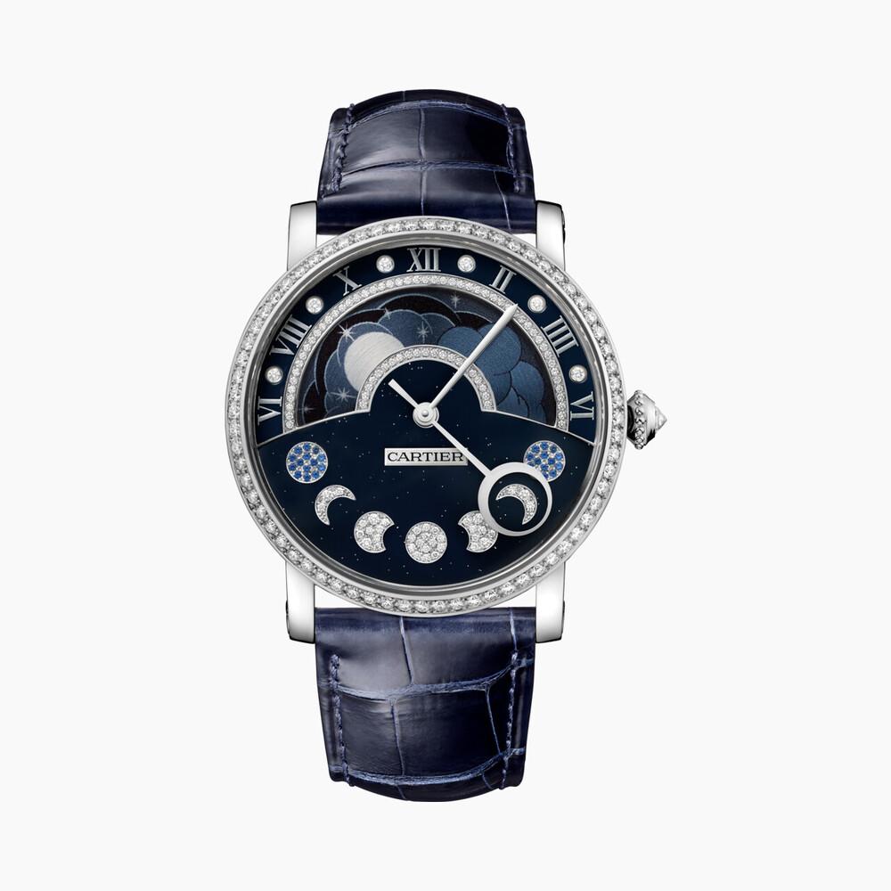 Часы Rotonde de Cartier, указатель ««день/ночь», индикатор фазы Луны