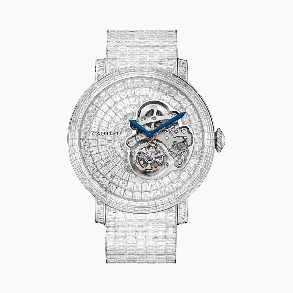 Часы Rotonde de Cartier, парящий турбийон, дугообразный циферблат