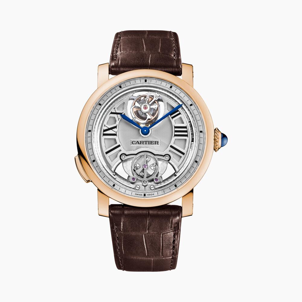 Часы Rotonde de Cartier, минутный репетир, парящий турбийон