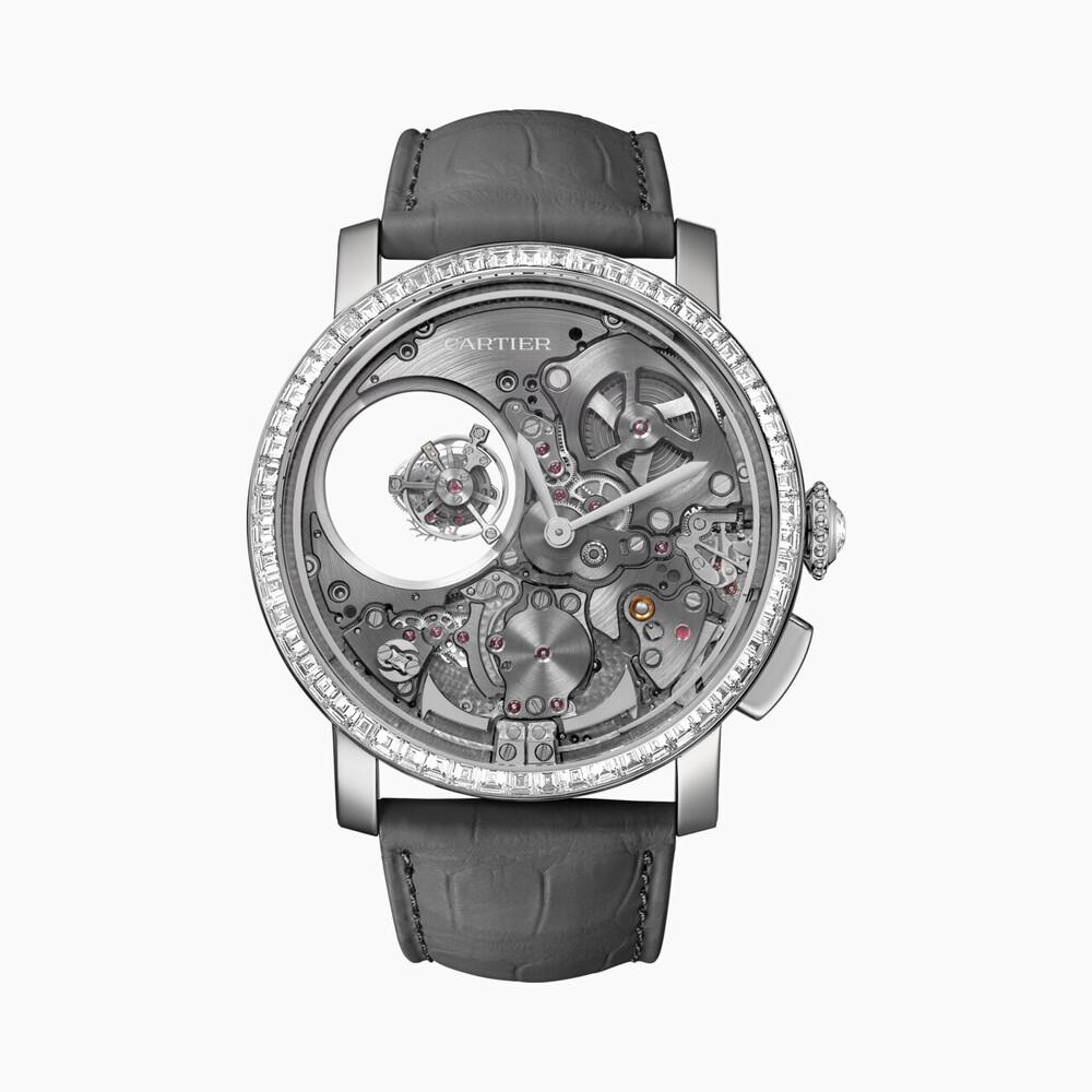 Часы Rotonde de Cartier с минутным репетиром и двойным «загадочным» турбийоном