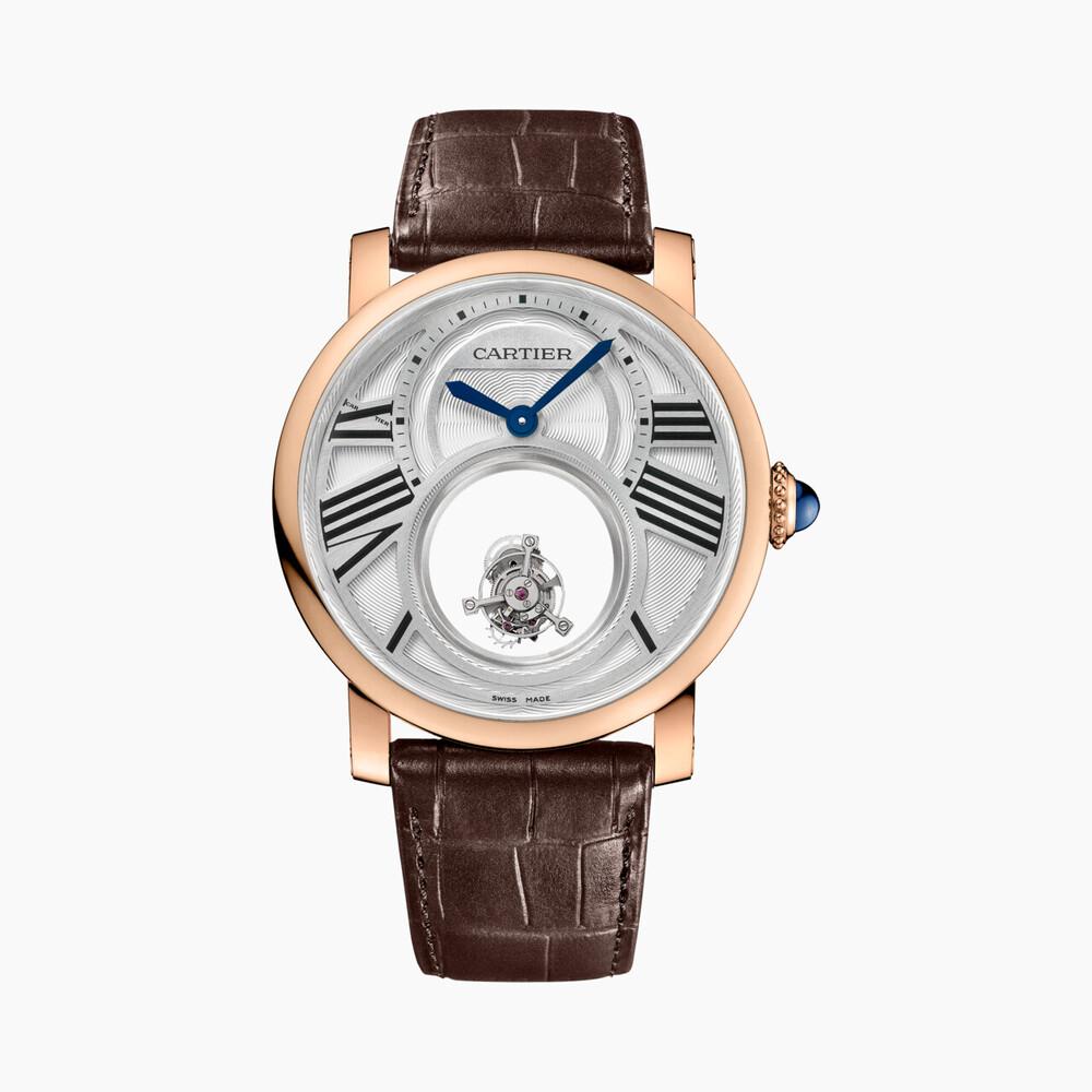Часы Rotonde de Cartier, двойной «загадочный» турбийон